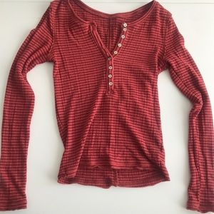 Free people button down thermal top